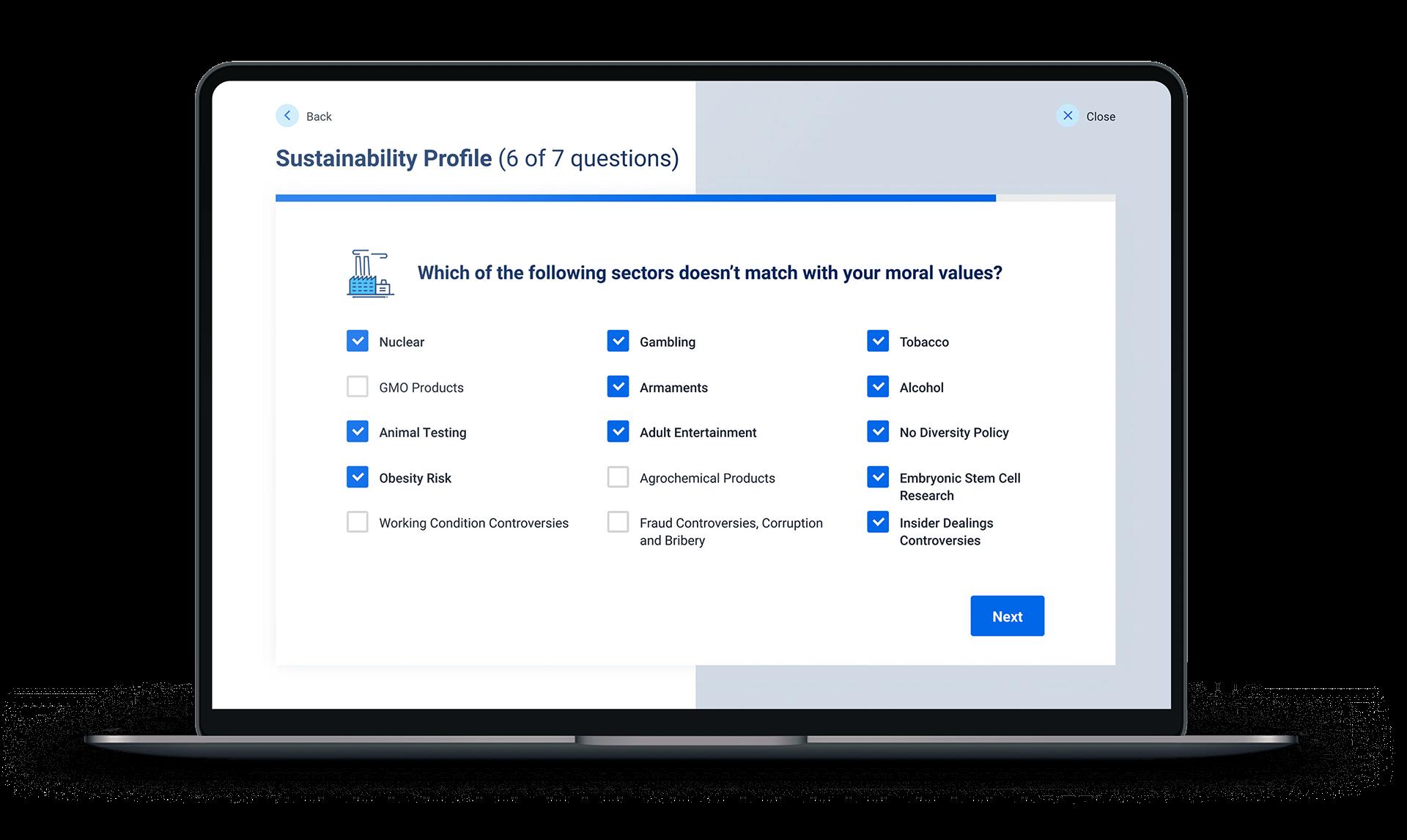 Fincite ESG Sustainibility Profile