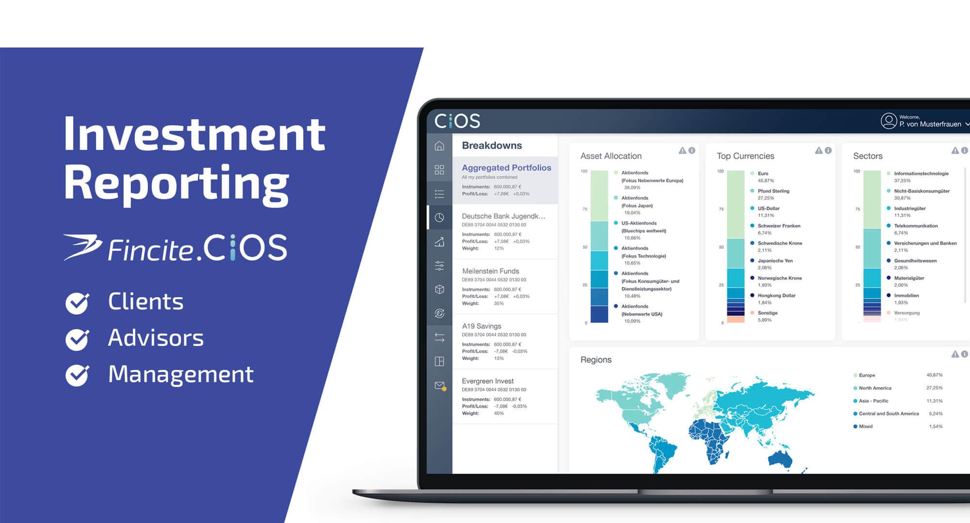 Digital Investment Reporting für Kunden, Berater und Management